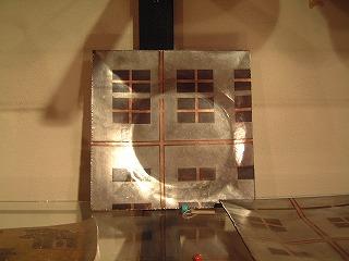 銅の四角い皿