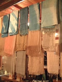 草木染のスカーフ