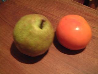 洋ナシと柿