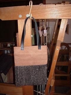 裂き織りバッグ 小