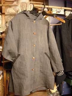 麻のフードジャケット