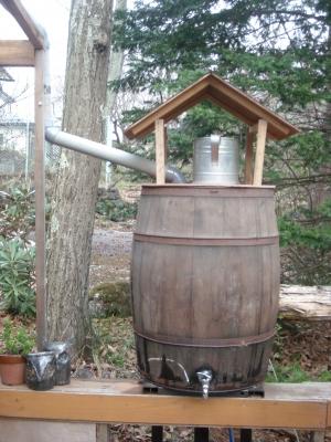 完成雨水利用タンク
