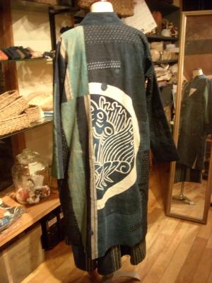 古布のコート