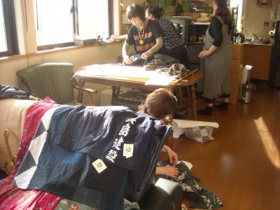 古布の服ワークショップ