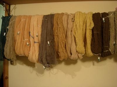 ストーブ染め毛糸