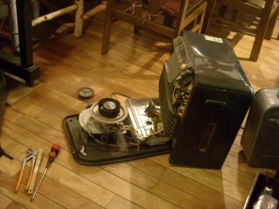 ストーブの修理
